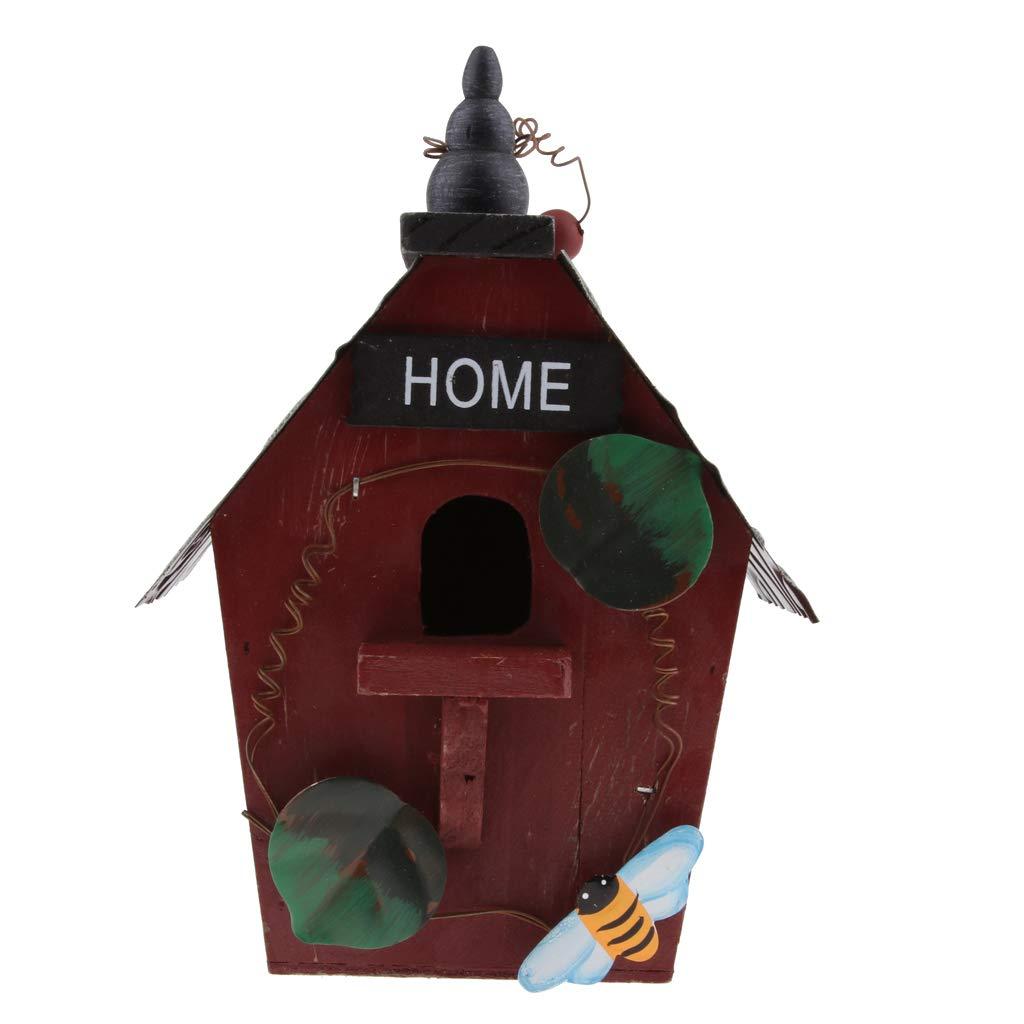FLAMEER Nido Uccello Birdhouse Nidificazione Sospeso Giardino Pensile – A