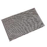 HomeMiYN Mikrofaser Bad-Teppiche Chenille Rutschhemmend Teppiche Super Weich saugfähig Badezimmer Teppich Granulat Faser Matte, Grau, 50×80cm