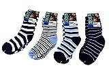 E&F Fashion 12 Paar Kids Jungen Socken Kinder Strümpfe 85% Baumwolle Bunt Gr. 23-38 + Silikon Armband A.1000 (27-30)