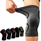 #5: DALUCI 1PCS Fitness Running Cycling Knee Support Braces Elastic Nylon Sport Compression Knee Pad Sleeve (Multi-Color) (Large)