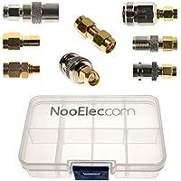 Kit di Connettività Adattatore NooElec SMA - set di 8 Adattatori per NESDR SMArt (RTL-SDR) e Altre Radio Definite dal Software SMA con Scatola di Trasporto
