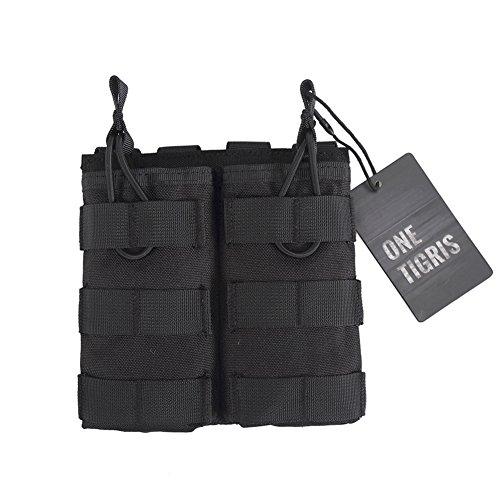 OneTigris Doppelt MOLLE AR Magazintasche Nylon Magazinbeutel für M4/M16 (Schwarz) -