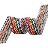 1.7 cm de ancho decorativo coser ajuste de la cinta del ajuste multicolor bordado Por The Yard