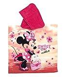 Boutiques du Monde 01204228 Poncho Bambina Minnie 2, 100% Cotone, Multicolore, 55x53x1 cm