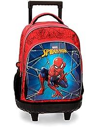 Marvel Spiderman Black Zaino 43 centimeters 28.9 Multicolore (Multicolor)