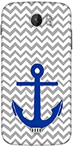 Snoogg Anchor Wave Designer Protective Back Case Cover For Micromax A110