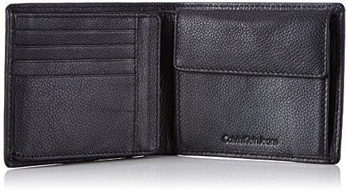 Calvin Klein Jeans SEAL 10CC + PASS K50K500716 Herren Geldbörsen 13x11x3 cm (B x H x T) Schwarz (Black 001)