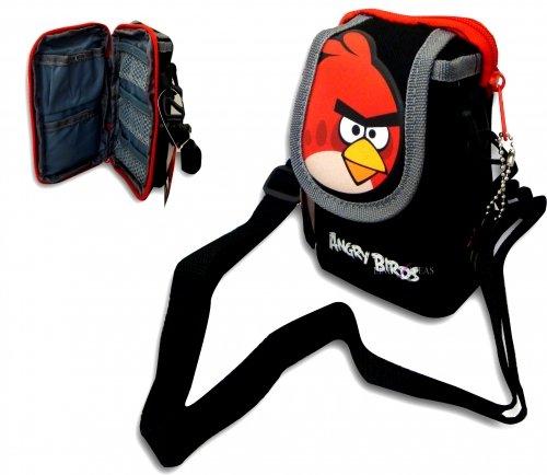 Angry Birds 7593902-wop – Bolso bandolera mini con diseño de pájaro, color negro