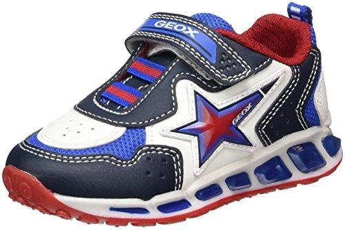 Geox j shuttle b, scarpe da ginnastica basse bambino, blu (navy/white), 32 eu