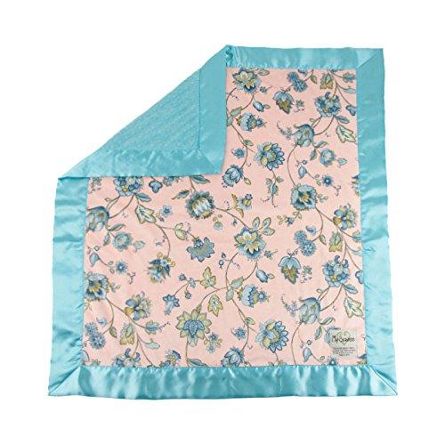 My Blankee Monique Minky W/Minky Dot Topaz Baby Decke, 76,2x 88,9cm