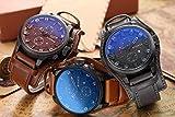 CURREN Herren Quarzuhr mit Zifferblatt Analog Chronograph Display,Casual Militär Sport Wasserdichte Armbanduhren, mit D