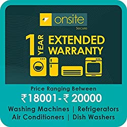 Onsite 1-year extended warranty for Large Appliance (Rs. 18001 to < 20000)