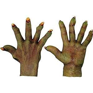 Gants monstre vert adulte Halloween