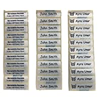 35 pre-cut name labels iron-on school uniform tag - PLEASE SEND NAME TO BE PRINTED VIA EMAIL