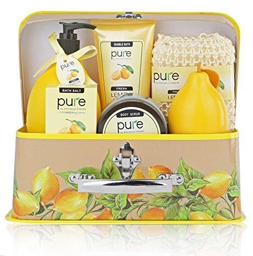 Pure One Day Sale!!! Spa In A Basket - Best Gift Set For Women (Zesty Lemon) Bath & Body Luxury Spa Kit-