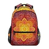 TIZORAX Hippie Mandala Yoga psychédélique Sac à Dos Sac d'école pour randonnée Voyage Sac à Dos