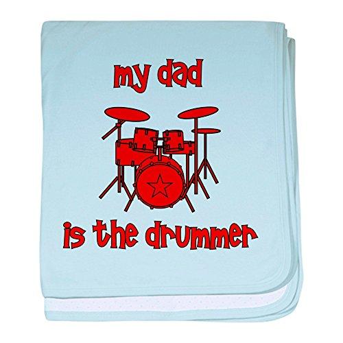 CafePress–My Dad ist der Drummer (Drums) Baby Decke–Baby Decke, Super Weich Für Neugeborene Wickeldecke, baumwolle, himmelblau, Standard