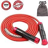 Springtouw gewichten verstelbaar springtouw Crossfit Speed Rope voor vrouwen mannen - aluminium handvat & 9 mm dik touw - Ideaal voor fitness, gewichtsverlies, crossfit, boksen, MMA, Double Unders