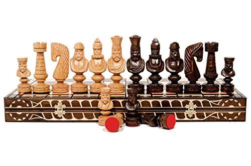 CAESAR 60cm / 24in Luxus Modelliert aus Holz Schach-Spiel, Handcrafted klassische Spiel