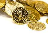 Trendario 150 Gold Münzen, Spielgeld für Kinder, Piratenmünzen für Piratenparty, Piratengeld Schatzsuche, Mitgebsel