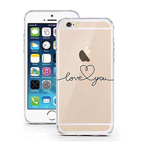 Blitz® Ei Schutz Hülle Transparent TPU Cartoon Comic iPhone Sold Out M9 iPhone 8 8s Love YOU Herz M1