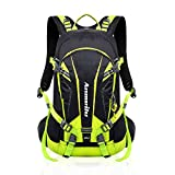 Fahrrad Rucksack 20L Multifunktionaler Wanderrucksack Wasserdicht mit Regen Cover Helm für Sport Reiten Reisen Camping, Grün1