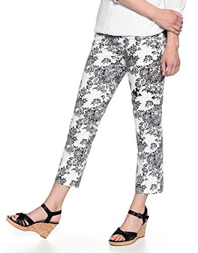 Bexleys by Adler Mode Damen 7/8 Druckhose - Damenhose, Businesshose, Anzughose, Stoffhose - auch in Kurzgrößen erhältlich Black/White 40 (Wollhose Damen)