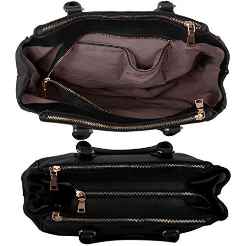 Für für Groß 00260 Frauen Marine Schulferien Groß 3 Schwarz Damen Fachtasche Großer Umhängetaschen LeahWard Handtaschen Blau 8vnXgAZxwq