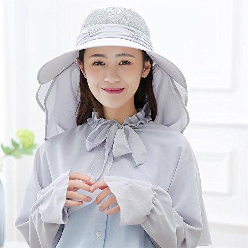 LLZTYM Avec Un Grand Chapeau Femelle Extérieure Uv Solaire Été Voyage Tout Le Match Riding Hat A Couvert Son Visage Pliant Le Chapeau De Soleil D