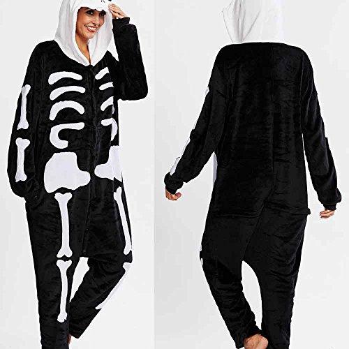 DIKEWANG Cosplay Unisex Flannel Fleece Hooded Animal Novelty Pyjamas Nightwear Onesie Fancy Dress Sleepwear Cosy Christmas Halloween Costumes