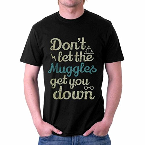The Souled Store HARRY POTTER: Muggles Movie Printed Premium Cotton T-shirt for Men Women and Girls