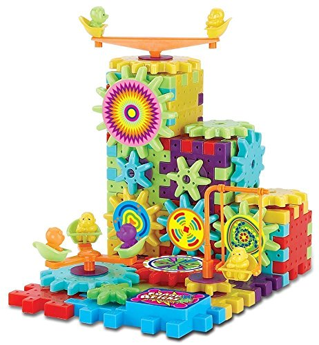 Gear Building Blocks Educational Toy for 3 4 5 6 7 years old kids Multi Colors and Shapes Puzzle 81 Pieces Christmas Gifts