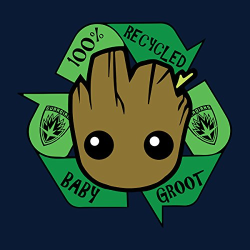 Recycled Baby Groot Guardians Of The Galaxy Women's Hooded Sweatshirt Navy Blue