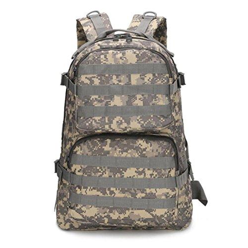 LF&F Backpack Camping outdoor Zaini Borse Versione aggiornata Alpinismo 3D Sport impermeabile all'aperto Sport ad alta capacità traspirante Oxford Tactical 45L doppio zaino a spalla black 45L A