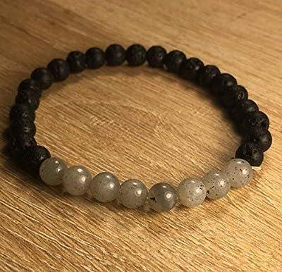 bracelet guérison Pierre du Thérapeute LABRADORITE Pierre de Lave pierre naturelle semi-précieuse