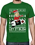 Nordkoreanische Weihnachten Männer - Let It Blow T-Shirt X-Large Grün