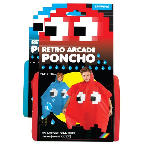 UK-ImportRetro-Arcade-Poncho-Red