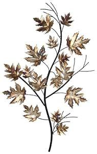 Pacific Lifestyle Décoration murale en métal Branche avec des feuilles Mordoré