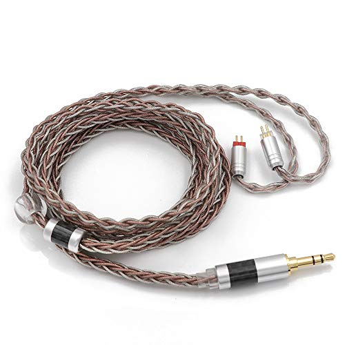 TRIPOWIN C8 8-Core Silver Copper Foil Braided Earphone Upgrade Cable,  Tinsel Silver Copper Wire for KZ ZS10 PRO AS10 ZS10 ZS6 ES4 ZST ZSR ED16  TRN V80