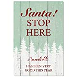 Annabell has been Good. Babbo Natale. Stop Here personalizzato metal Sign