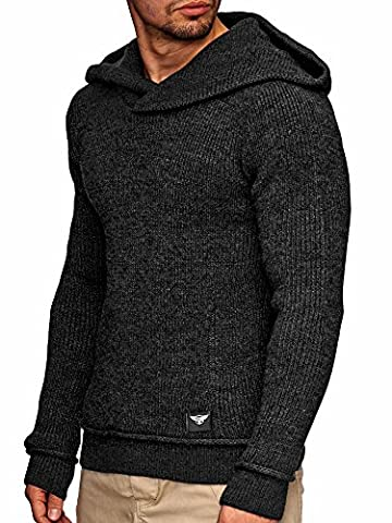 Sweat Homme Fourrure Zippe - INDICODE Hommes Pull en tricot Pullover Pull