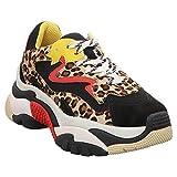 ASH | Addict | Sneaker Leo - schwarz| Black-beige, Farbe:schwarz, Größe:38