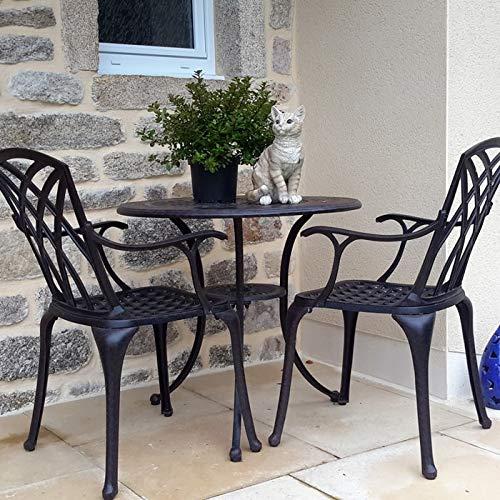 Lazy Susan – ANNA Gartentisch mit 2 Stühlen - 2