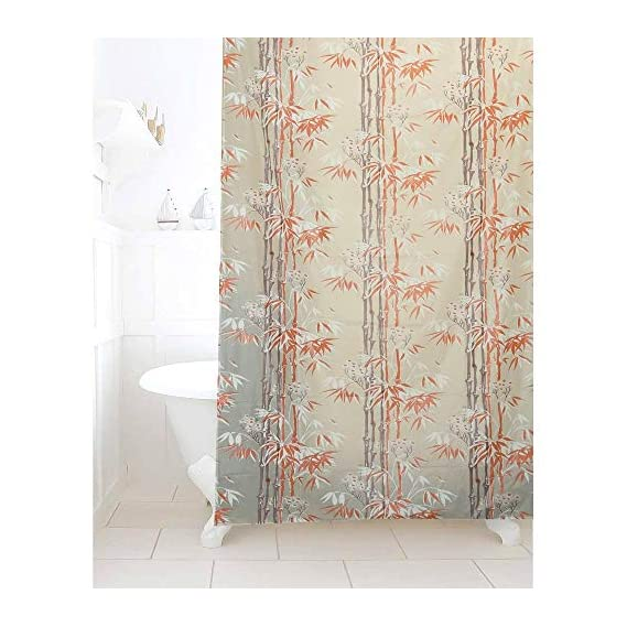 LOOMANTHA miles to go.... Multicolor Printed PVC Shower Curtain