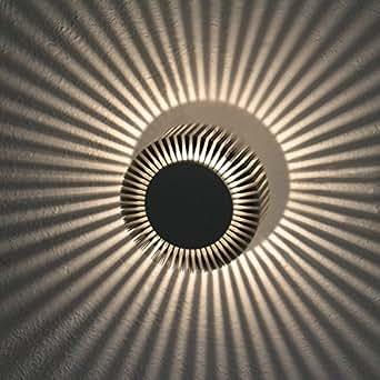 KHL applique à sonnenstrahler spot mural extérieur lED lampe spot plafond effet étoile effektlampe ø 15 cm-couleur: blanc