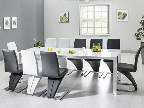 Tisch 'Venedig' Hochglanz Weiß lackiert 90x250cm
