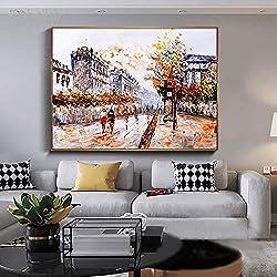 tzxdbh 1 Stück Mosaik Paris Streetscape Wandbild Poster Wohnzimmer Dekoration Hd Poster Leinwand Malerei50X70