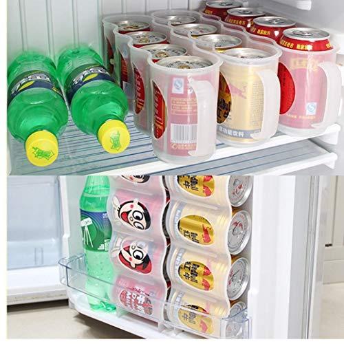 4 Fall Organizer Bieraufbewahrungsbehälter Küche Frige Getränke Trinken Flaschenhalter Dosen Kühlschrank Koksgetränk Platzsparend