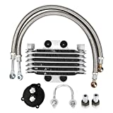 Aluminium Motorrad Motorölkühler, Motorrad Ölkühler Motorrad Motorölkühler Filteradapter...