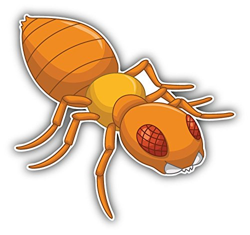 termite-cartoon-animal-art-decor-bumper-sticker-12-x-12-cm